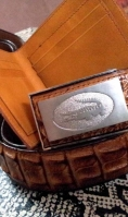 leather-wallets with pure leather belt