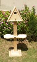 triangular-bird-house-with-pedestal-2-feeder-holders